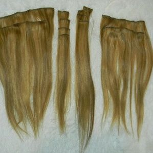Remy Human Hair Full Head Set Extensions